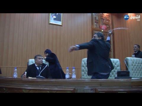 فيديو..شجار وركل وصدام أثناء انتخاب رئيس مجلس محلي في الجزائر