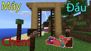 Cách Làm 1 Cái Máy Chém Đầu (Nguy Hiểm) - Minecraft PE