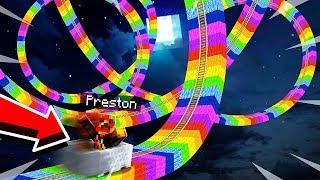 LONGEST MINECRAFT RAINBOW Roller Coaster Challenge! (MCPE)