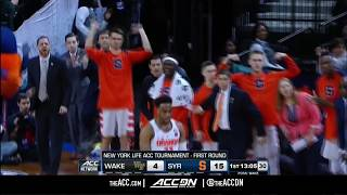ACC MBB Tournament: Wake Forest vs Syracuse Condensed Game 2018