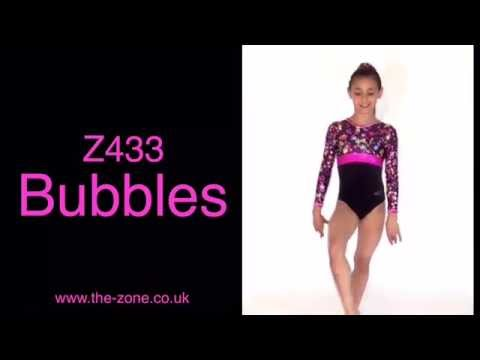 Bubbles Long Sleeve Gymnastics Leotard