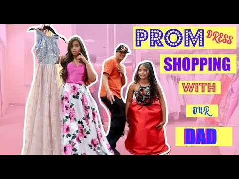 DAD PICKS OUT OUR PROM DRESSES!?!   MontoyaTwinz