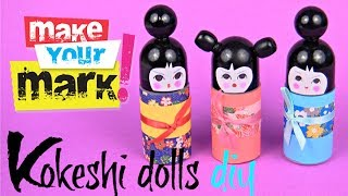 How to Make a Kokeshi Doll (from a roll-on bottle)
