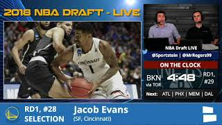 Golden State Warriors Select Jacob Evans With Pick #28 In 1st Round Of 2018 NBA Draft