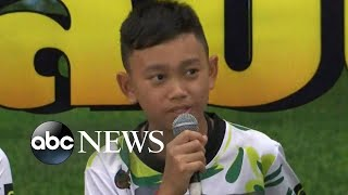 Rescued boys, coach say they never gave up hope of being found in Thailand cave