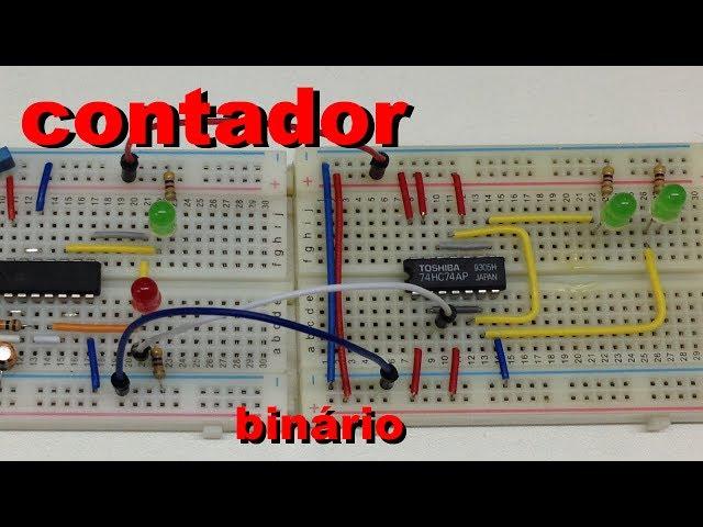 CONTADOR BINÁRIO COM AJUSTE DE VELOCIDADE | Conheça Eletrônica! #029