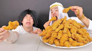 Mukbang 1 Chicken vs 100 Chicken 치킨 100마리 먹방!