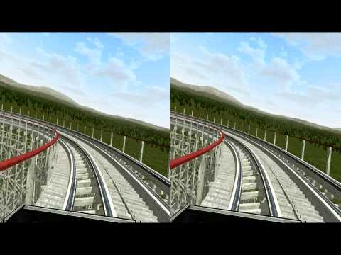 3D Rollercoaster: Colossus - Need for Speed Pt.2 (3D for PC/3D phones/3D TVs/Crossed Eyes)