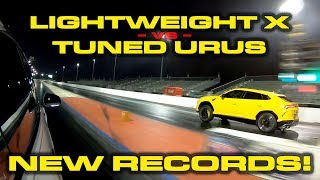 ROUND 3 * Lightened Tesla Model X Raven vs 700+ HP Tuned Lamborghini Urus * Both set new records