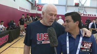 Coach Popovich talks Tim Duncan, Derrick White, Team USA
