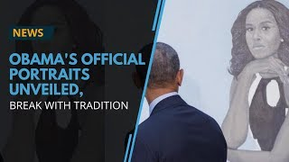 The Obamas unveil portraits at the Smithsonian's National Portrait Gallery