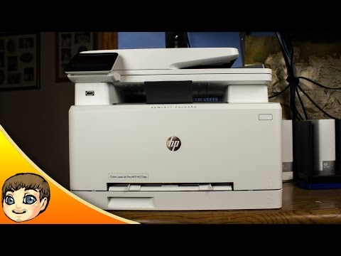 video HP LaserJet Pro M477fdw All-in-One Wireless Color Laser Printer with Double-Sided Printing