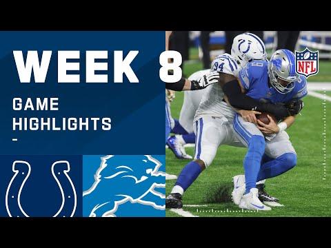 Colts vs. Lions Week 8 Highlights | NFL 2020
