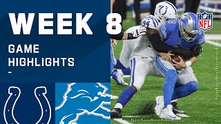 Colts vs. Lions Week 8 Highlights | NFL 2020