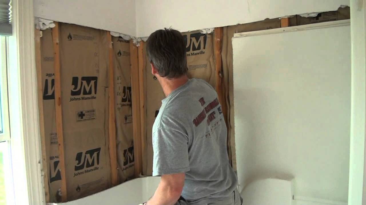 Bathroom Remodel Removing A Fiberglass Shower Youtube