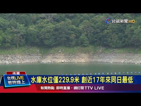水庫水位僅229.9米 創近17年來同日最低