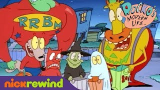 Rocko and Heffer go Trick-or-Treating | Rocko's Modern Life | NickRewind