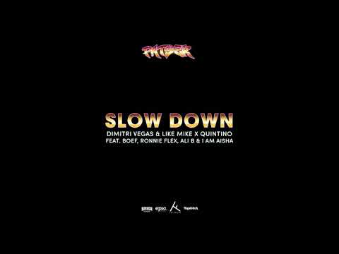 Dimitri Vegas & Like Mike x Quintino Ft. Boef, Ronnie Flex, Ali B & I Am Aisha - Slow Down