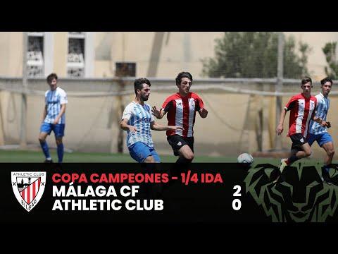 ⚽ Resumen I Copa Campeones DH Juvenil – 1/4 ida I Málaga CF 2-0 Athletic Club I Laburpena