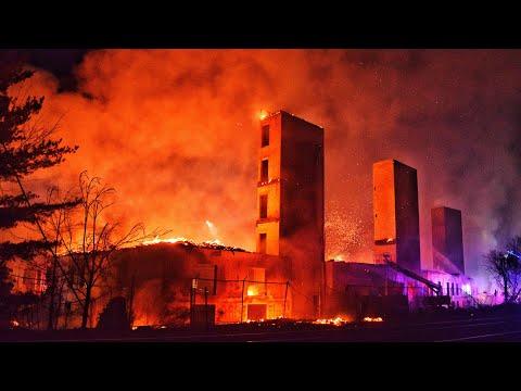 Bound Brook Fire Department 7+ Alarm Massive Multi Structure Fire 1-12-20
