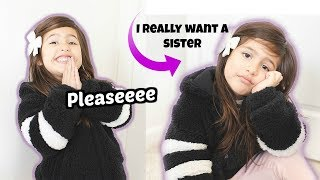 Our reaction to our only daughter asking us for a sister! *HILARIOUS