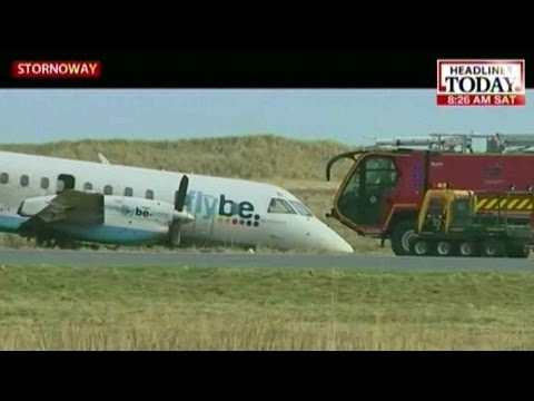HLT : Strong winds blow plane off the track while take off