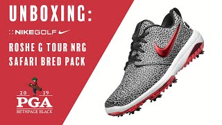 "Nike Golf: Unboxing the Roshe G Tour NRG ""Safari Bred Pack"" 2019 PGA Championship, Bethpage Black"