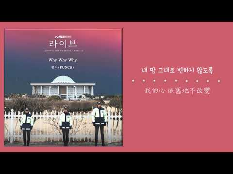 【韓繁中字】PUNCH (펀치) - Why Why Why (Live OST Part.4) ( 라이브 OST Part.4 )