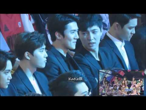 160409 EXO Reaction to SNH48 at top chinese music awards #160412