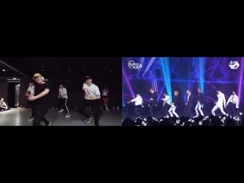 EXO vs. CHOREOGRAPHER | KO KO BOP side by side comparison