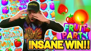 🔥 FRUIT PARTY HUGE WIN - CASINODADDY'S INSANE HUGE WIN ON FRUIT PARTY 🔥