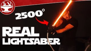 Make it Real: LIGHTSABER BUILD (2500° OF DESTRUCTION)