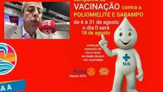 Mensagem de Clóvis Monteiro sobre a importância da vacinação