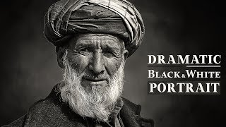 Dramatic Black and White Portrait Photoshop Tutorial | Darkness Photo Effects