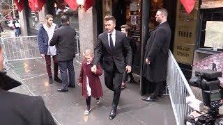 David Beckham, Victoria Beckham and their kids leaving Balthazar restaurant in Soho