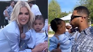 Khloe Kardahsian SHOCKED As Tristan Thompson SHOWS UP To Baby True's Birthday Party!