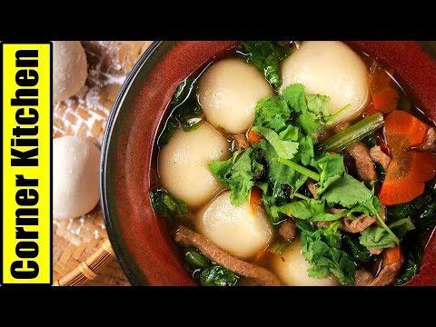 冬至不敗「鹹湯圓」炒料是秘訣 | Savory Glutinous Rice Balls Soup [角落廚房|Corner Kitchen]