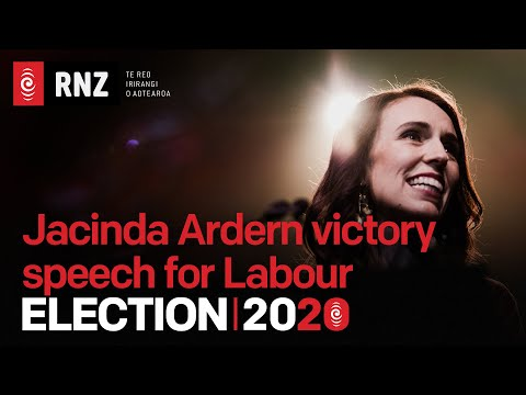 ELECTION 2020 | Labour party leader Jacinda Ardern Victory speech