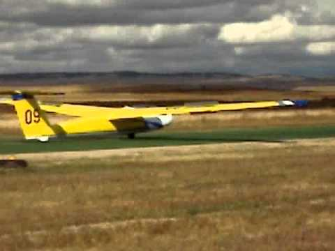 Calhan Airport Glider Landing