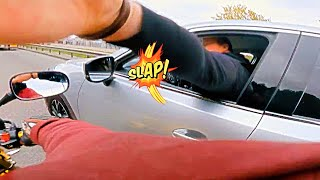 When you MESS With the Wrong BIKER | Crazy Motorcycle Moments