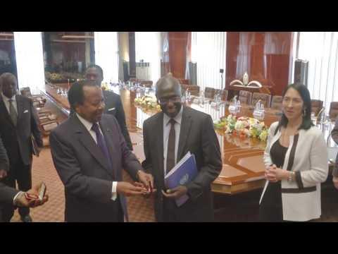 Audience accordée par S.E. Paul BIYA aux membres du Conseil de Sécurité de l'ONU
