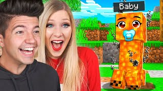 How to Tame a Baby LAVA CREEPER! ft PrestonPlayz