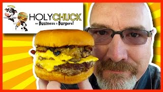 Holy Chuck Burgers - The Holy Chuck Signature Burger, Fries and Chocolate Shake