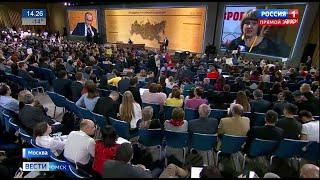 Впервые за последние годы журналисты из Омска смогли задать прямой вопрос Владимиру Путину