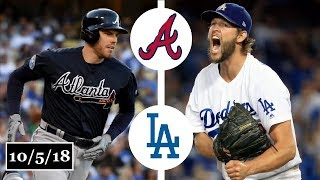 Atlanta Braves vs Los Angeles Dodgers Highlights || NLDS Game 2 || October 5, 2018