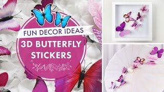 3D Butterfly Stickers | DIY Wall Decal Crafts 🦋 | BalsaCircle.com