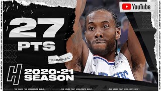 Kawhi Leonard 27 Points Full Highlights vs Kings   January 15, 2021   2020-21 NBA Season