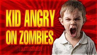 Angry Kid on Black Ops 2 'BURIED' Zombies - BO2 Trolling