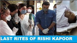 Rishi Kapoor's funeral: Alia Bhatt, Ranbir Kapoor and fami..