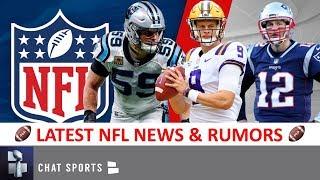 NFL Rumors: Tom Brady Future? Jason Garrett To Giants? Joe Burrow Draft? Luke Kuechly Hall Of Fame?